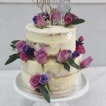 Flowery Christening Cake